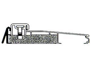 "MD 43822 36"" Aluminum Adjustable Thermal Break Threshold"
