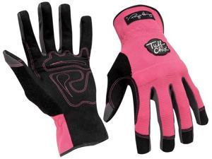 Tuff Chix Women's Gloves Pink/Black Large
