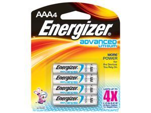 Energizer EA92BP-4 4 Pack AAA Lithium Batteries