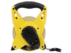 "Stanley Hand Tools 34-812 100' X 3/4"" FatMax™ Extra Wide Fiberglass Long Tape"