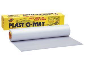 "Warps PM-50-W 30"" X 50' Opaque White Plast-O-Mat® Ribbed Flooring Runner Roll"