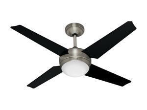 "Hunter 21585 52"" Brushed Nickel & Black 4 Blade Sonic Ceiling Fan"