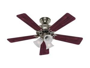 "Hunter 20175 42"" Brushed Nickel & Cherry 5 Blade Southern Breeze Ceiling Fan"
