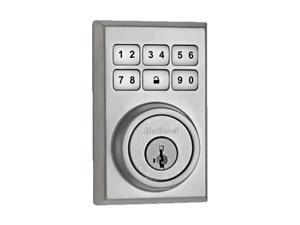 Kwikset SmartCode 910 Contemporary Z-Wave Deadbolt, Works w/ Amazon Alexa via SmartThings or Wink, featuring SmartKey in Satin Chrome (99100-012)