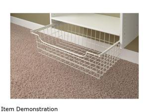 "Easy Track 1308 8"" Wire Basket - White"