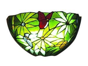 Exciting Lighting AMB3000 Stained Glass Rainforest Design Sconce