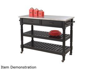 Home Styles 5218-951 Savannah Black Kitchen Cart