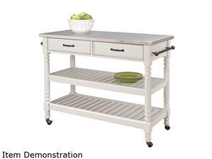 Home Styles 5219-95 Savannah White Kitchen Cart