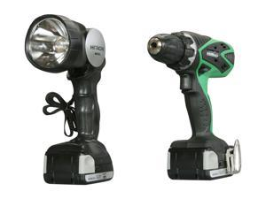 Hitachi DS14DSFL 14.4V Lithium Ion Driver Drill with Flashlight (1.5Ah)
