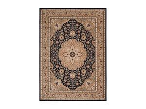 "Shaw Living Arabesque Easton Area Rug Cannon Black 2' 3"" x 8' 3K06602500"