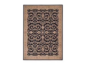 "Shaw Living Arabesque Juliard Area Rug Cannon Black 2' 3"" x 8' 3K06603500"