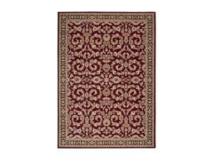 "Shaw Living Arabesque Juliard Area Rug Firebrick Red 2' 3"" x 8' 3K06603800"