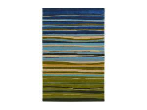 "Shaw Living Loft Candy Stripes Area Rug Green 5' x 7' 6"" 3K08913300"