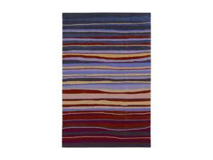 """Shaw Living Loft Candy Stripes Area Rug Red 5' x 7' 6"""" 3K08913800"""