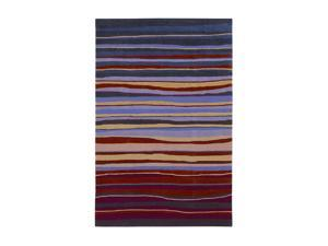Shaw Living Loft Candy Stripes Area Rug Red 8' x 10' 3K09013800