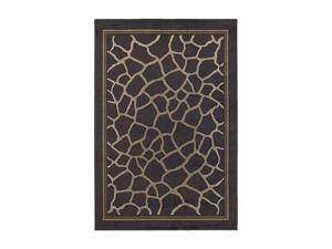 "Shaw Living Concepts Giraffe Area Rug Brown 5' 3"" x 7' 10"" 3V73204700"