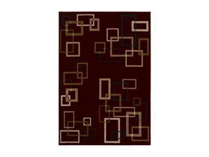 "Shaw Living Inspired Design Cubist Area Rug Red 2' 6"" x 7' 10"" 3V80817800"
