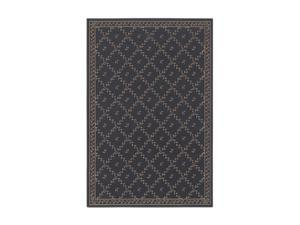"Shaw Living Woven Expressions Gold Trellis Leaf Area Rug Chocolate 1' 11"" x 7' 6"" 3VA6816700"
