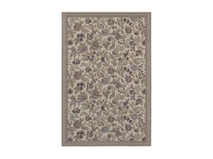 "Shaw Living Woven Expressions Gold English Floral Area Rug Ivory 9' 2"" x 12' 3VA7611105"