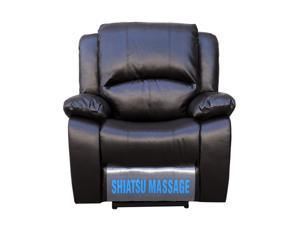 Turnda International, Inc. Leather Power Recliner with Shiatsu Massage