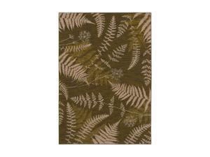 "Shaw Living Bob Timberlake Forest Ferns Area Rug Dark Green 9' 6"" x 12' 10"" 3VD1404310"