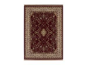 "Shaw Living Kathy Ireland Home Gallery Garden Fantasy Area Rug Red 2' 6"" x 7' 11"" 3X30611800"