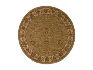 "Shaw Living Antiquities Kashmar Area Rug Sage 5' 4"" Round 3X66274310"