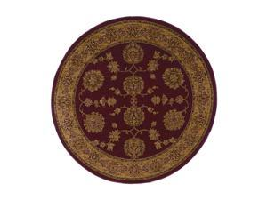 "Shaw Living Antiquities Kashmar Area Rug Brick 5' 4"" Round 3X66274800"