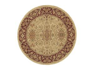 "Shaw Living Antiquities Khorassan Area Rug Beige 5' 4"" Round 3X66275100"