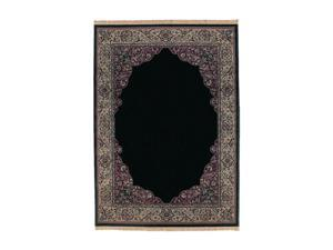"Shaw Living Kathy Ireland Home Essentials Manor Border Area Rug Ebony 3' 10"" x 5' 7"" 3X72221500"