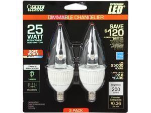 Feit Electric BPCFC/DM/160/LED/2 25 Watt Equivalent LED Light Bulb (2 Pack)