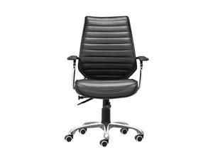 Zuo Modern 205164 Enterprise Low Back Office Chair Black