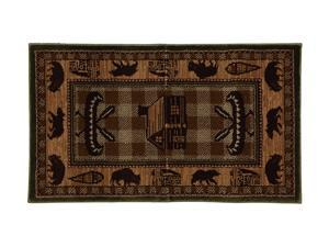 "Mohawk Home Pembroke Winfield 25""X44"" Rug Brown 2' x 3' and smaller 9448 86007 025044"