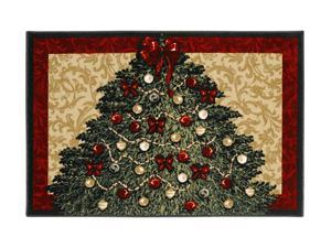 "Shaw Living Holiday Collection Christmas Tree Area Rug Multi 2' 7"" X 3' 10"" 3P17300110XM"