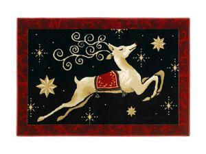 "Shaw Living Holiday Collection Dashing Thru the Night Area Rug Multi 2' 7"" X 3' 10"" 3P17300101XM"