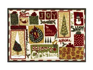 "Shaw Living Holiday Collection Holiday Mix Area Rug Multi 2' 7"" X 3' 10"" 3P17300117XM"