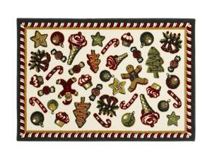 "Shaw Living Holiday Collection Holiday Sweets Area Rug Multi 2' 7"" X 3' 10"" 3P17300118XM"