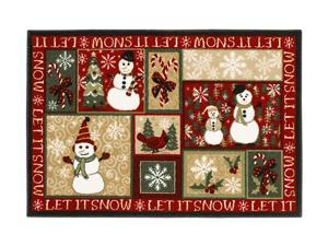 "Shaw Living Holiday Collection Let It Snow Area Rug Multi 2' 7"" X 3' 10"" 3P17300102XM"