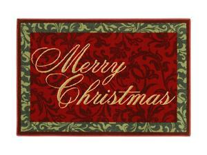 "Shaw Living Holiday Collection Merry Christmas Area Rug Multi 2' 7"" X 3' 10"" 3P17300100XM"