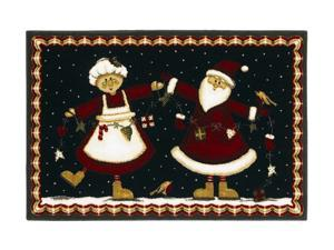 "Shaw Living Holiday Collection Mr. And Mrs. Area Rug Multi 2' 7"" X 3' 10"" 3P17300112XM"