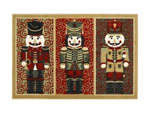 "Shaw Living Holiday Collection Nutcrackers Area Rug Multi 2' 7"" X 3' 10"" 3P17300106XM"