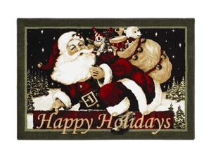 "Shaw Living Holiday Collection Old St. Nick Area Rug Multi 2' 7"" X 3' 10"" 3P17300111XM"