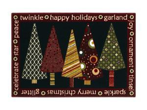 "Shaw Living Holiday Collection Twinkle Trees Area Rug Multi 2' 7"" X 3' 10"" 3P17300119XM"