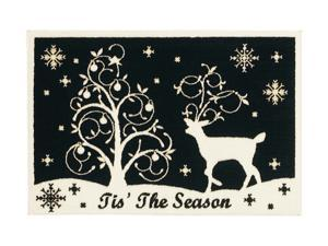 "Shaw Living Holiday Collection Winter Night Area Rug Multi 2' 7"" X 3' 10"" 3P17300113XM"