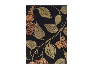 "DALYN CARLISLE Rug Black 3'3"" x 5'1"" CR560BK3X5"