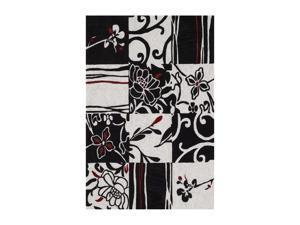 "DALYN STUDIO Rug Black 3' 6"" x 5' 6"" SD20BK4X6"