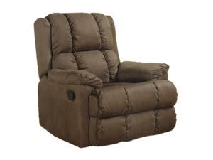 Primo International Flight Lory rocker recliner in chocolate microfiber