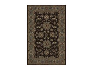 "DALYN JEWEL Rug Chocolate/Spa Blue 3' 6"" x 5' 6"" JW37CH/SB4X6"