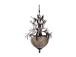 Uttermost Cristal de Lisbon 3 light Chandelier Bronze 21004