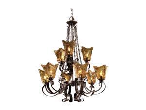 Uttermost Vetraio 9 light Chandelier Oil-rubbed bronze 21005